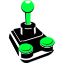 download Retro Joystick 001 clipart image with 135 hue color