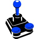 download Retro Joystick 001 clipart image with 225 hue color