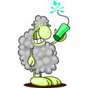 download Bad Sheep clipart image with 135 hue color