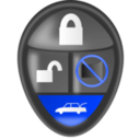 download Car Alarm Remote clipart image with 225 hue color