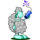 download Bad Sheep clipart image with 225 hue color
