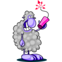 download Bad Sheep clipart image with 315 hue color