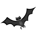 download Bat 1 Remix clipart image with 45 hue color