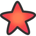 download Gold Star clipart image with 315 hue color
