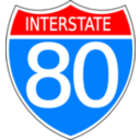 Color Wheel Of Interstate Highway Sign Clipart