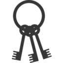 download Keys On Ring clipart image with 45 hue color
