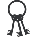 download Keys On Ring clipart image with 225 hue color