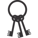 download Keys On Ring clipart image with 315 hue color