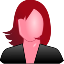 download Female User Icon clipart image with 315 hue color