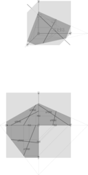 Plane Through Two Lines With Intersection Point Ebene Zweier Kreuzender Geraden
