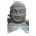 download Buddha Remixed clipart image with 135 hue color