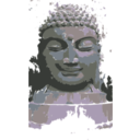 download Buddha Remixed clipart image with 225 hue color