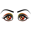 download Eyes clipart image with 180 hue color