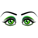 download Eyes clipart image with 270 hue color