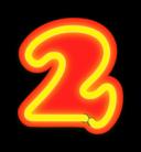 Neon Numerals 2