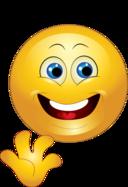 Yellow Bye Happy Smiley Emoticon