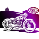 download 1950 Motorbike clipart image with 45 hue color