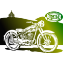 download 1950 Motorbike clipart image with 180 hue color