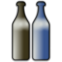 download Bottles clipart image with 180 hue color