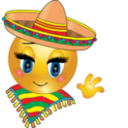 Mexican Girl Smiley Emoticon