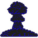 download Mushroom Cloud clipart image with 45 hue color