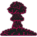 download Mushroom Cloud clipart image with 135 hue color