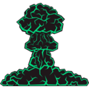 download Mushroom Cloud clipart image with 315 hue color