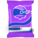 download Chips clipart image with 225 hue color
