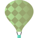 download Hot Air Balloon clipart image with 135 hue color