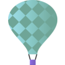 download Hot Air Balloon clipart image with 225 hue color