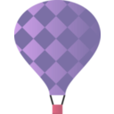 download Hot Air Balloon clipart image with 315 hue color