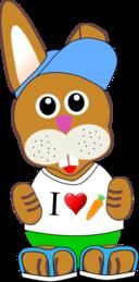 Funny Bunny With Summer Fashion Wear