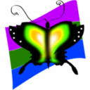 download Butterfly clipart image with 225 hue color