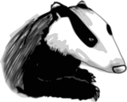 clipart badger 256x256 8426 صور غرير العسل ابيض واسود   Photos honey badger black and white