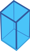 Cyan Transparent Cube