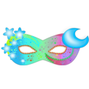 download Mask clipart image with 135 hue color