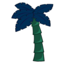 download Palm Tree clipart image with 135 hue color