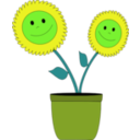 download Smiley Sun Flowers clipart image with 45 hue color