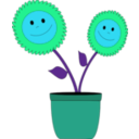 download Smiley Sun Flowers clipart image with 135 hue color