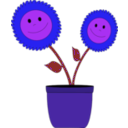 download Smiley Sun Flowers clipart image with 225 hue color