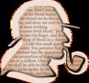 Detective Profile Silhouette On Pulp Paper