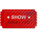 Ticket Admit One With Stamp