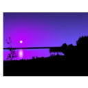 download Sunset clipart image with 225 hue color