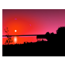 download Sunset clipart image with 315 hue color