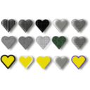 download 15 Hearts clipart image with 45 hue color