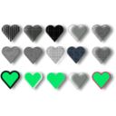 download 15 Hearts clipart image with 135 hue color