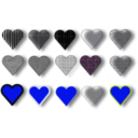 download 15 Hearts clipart image with 225 hue color
