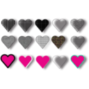 download 15 Hearts clipart image with 315 hue color