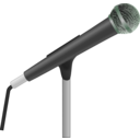 download Microphone clipart image with 90 hue color