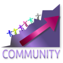 download Community clipart image with 225 hue color